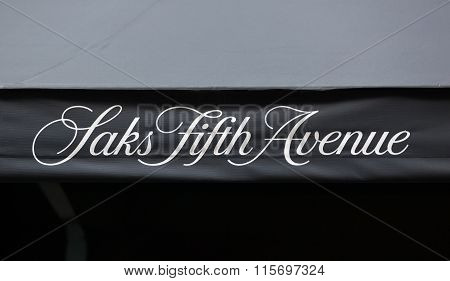 Saks Sign In Manhattan