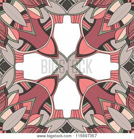 Decorative Seamless Pattern. Symmetry Vector Illustration.