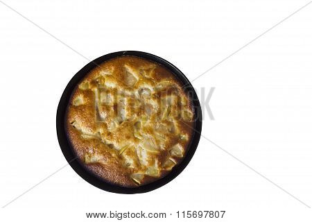 Charlotte. Apple Pie On A White Background