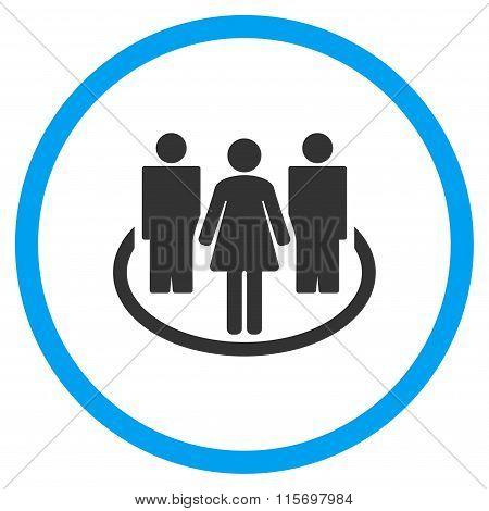 People Society Circled Icon