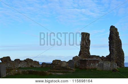 Graves at Reculver towers