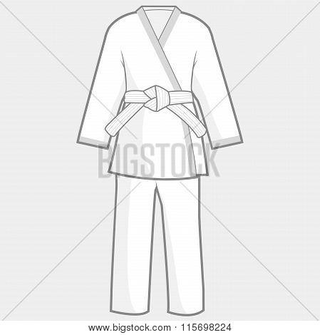 Martial arts kimono suit
