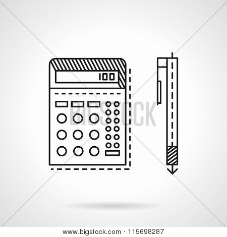 Accounting flat line vector icon