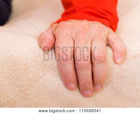Elderly Womans Hand