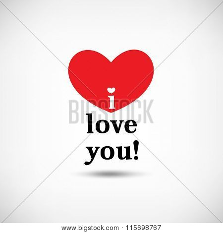 valentine's day, i love you message design
