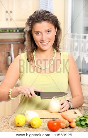 Young Wife Cooking
