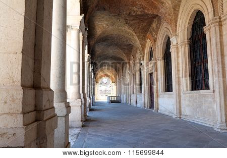 Porch Of The Palladian Basilica The Great Monument Of The City Of Vicenza