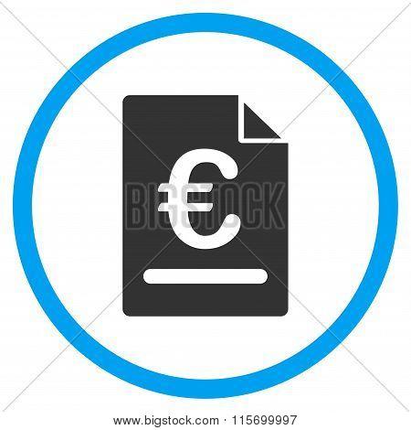 Euro Invoice Rounded Icon