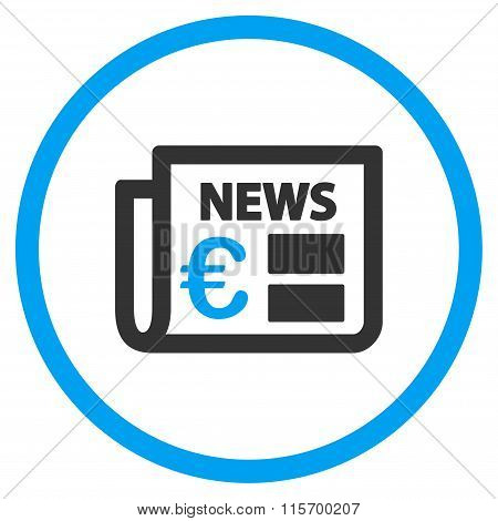 Euro Newspaper Rounded Icon