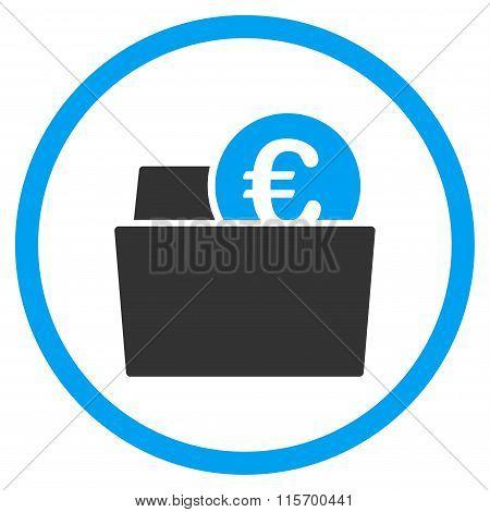Euro Wallet Circled Flat Icon