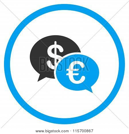 Euro And Dollar Transactions Rounded Icon