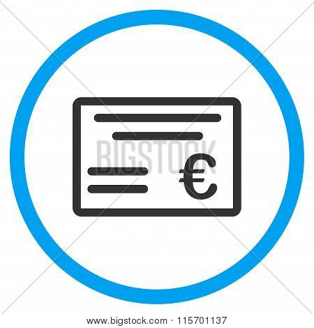 Euro Cheque Rounded Icon