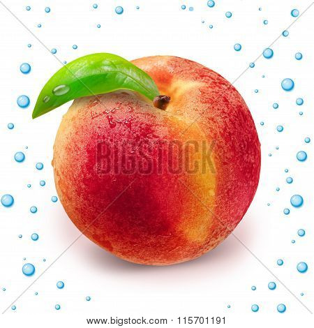 Peach With Clipping Path