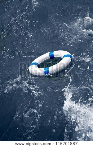 Lifebuoy On A Sea Storm