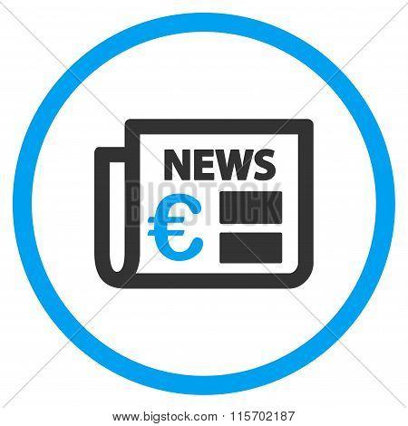 Euro Newspaper Circled Icon
