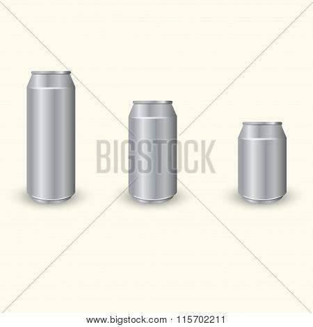 Aluminium cans set