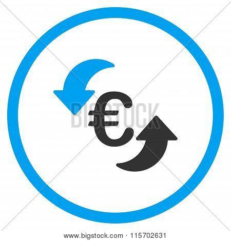 Refresh Euro Circled Icon