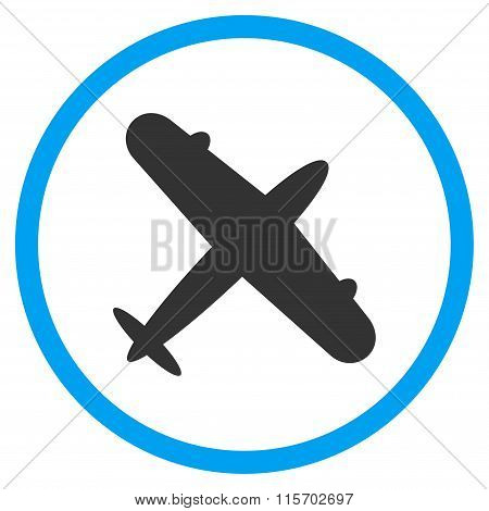 Aeroplane Circled Icon
