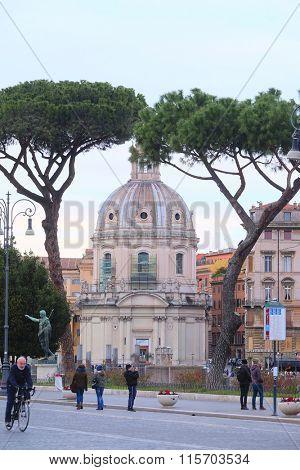 Roma, Italy, January, 16, 2016: Ancient temple in Roma, Italy