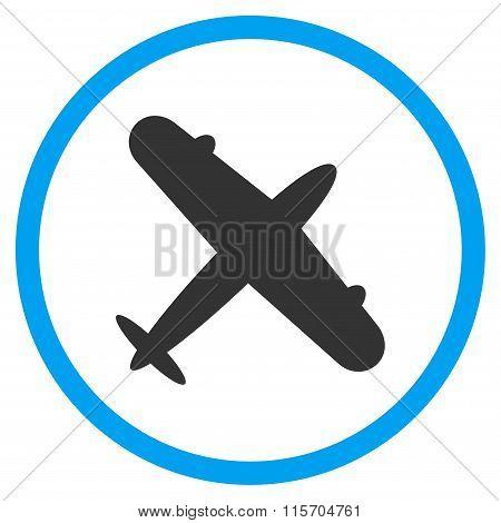 Aeroplane Rounded Icon