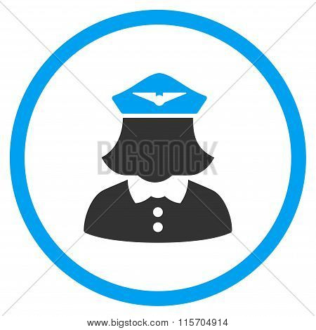 Airline Stewardess Rounded Icon
