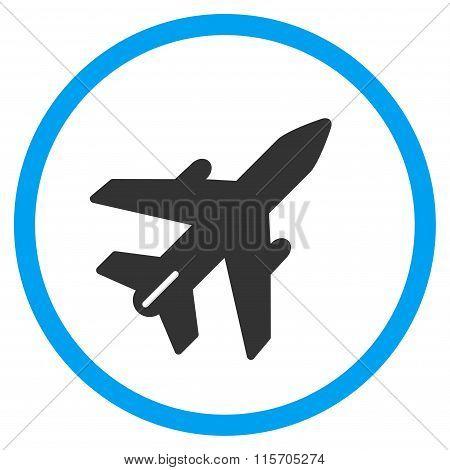 Airplane Circled Icon