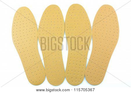 Brown Leather Shoe Insoles..