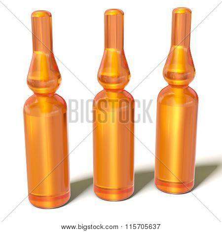 3D Glass Medical Ampoules Bottles