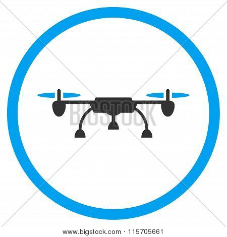 Airdrone Rounded Flat Icon
