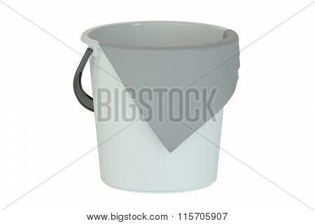 Bucket With Rag