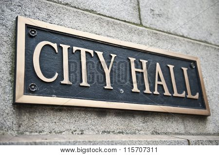 City Hall Name Board