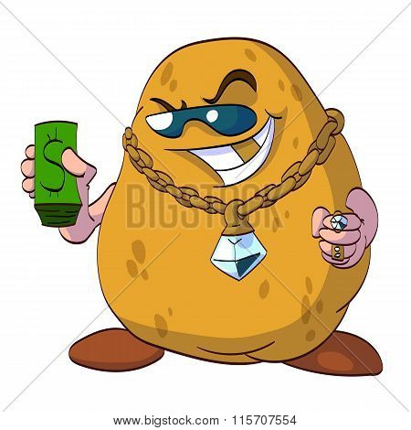 Rich potato illustration