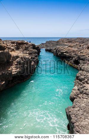 Buracona  In Sal Island Cape Verde - Cabo Verde