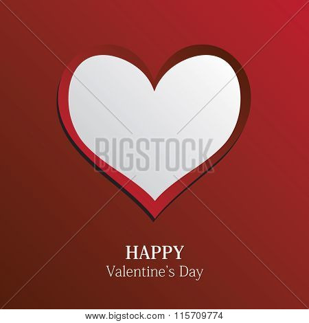 Happy Valentine's Day. Greeting card with heart in Vector Format