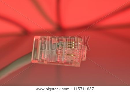Red Modular Connector 8P8C (rj45)