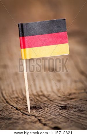 Stylized flag of Germany on wooden background