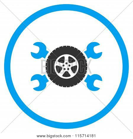 Tire Service Rounded Icon