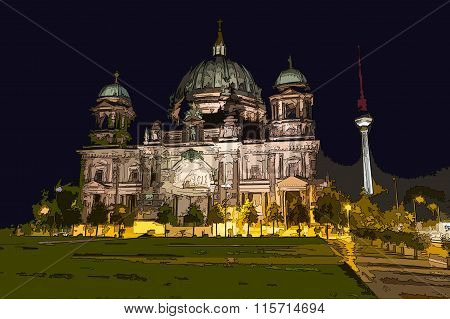 Sketch / Illustration Of The Berlin Cathedral