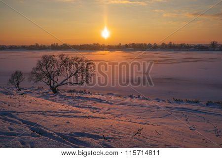 Warm freeze evening