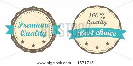 Modern badge, Premium quality, 100% Quality and Best choice