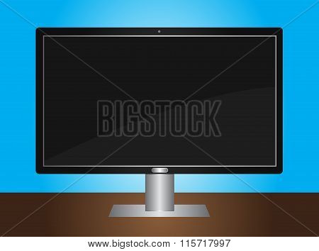 LCD TV monitor - on the desk