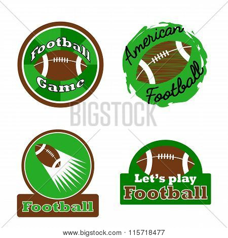 American football challenge winner logo, label, badge