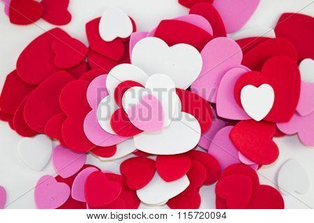 Coloured Heart Shapes