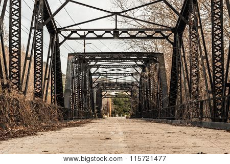 Sweetwater River Steel Parker Truss Bridge