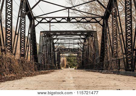 Sweetwater River Steel Parker Truss Bridge