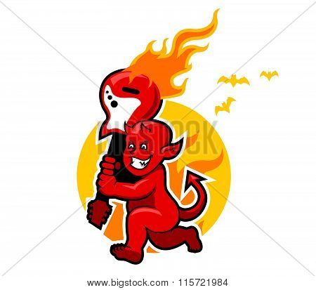 Red Devil Boy And Flaming Guitar