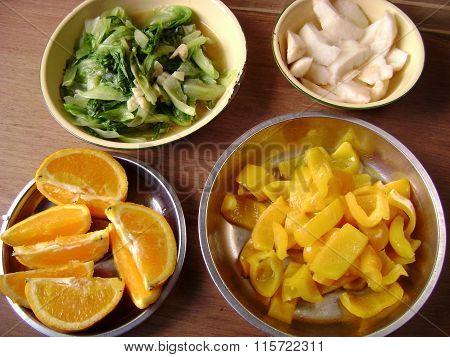 Chinese homemade vegetarian food