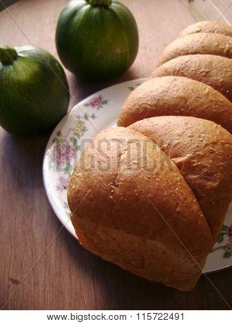 Bread breakfast background