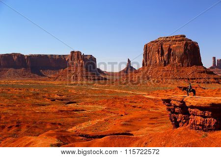 Monument Valley Cowboy on Horse