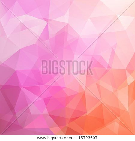 Abstract Triangular Mosaic Pink Background